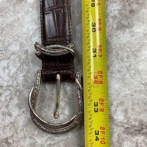 Brighton Accessories - Brighton Dark Brown Leather Belt Size 32 Western